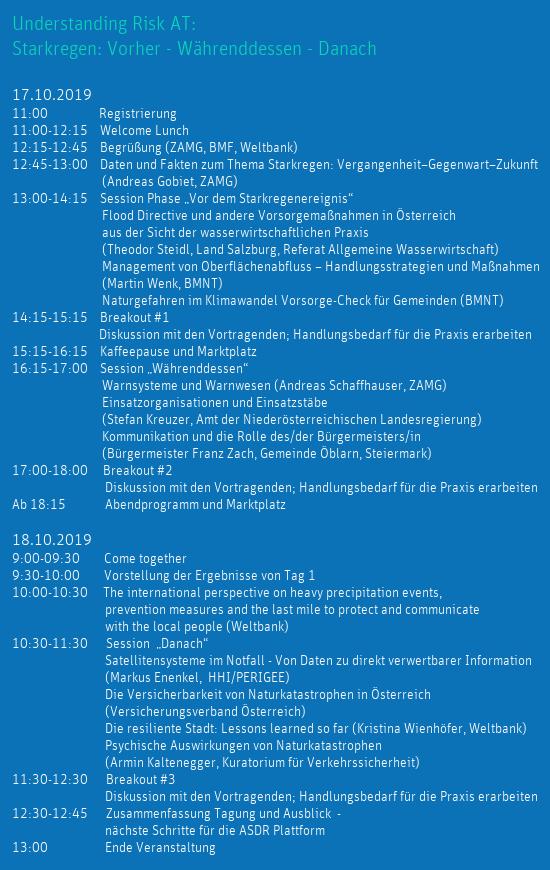 Tagungsprogramm